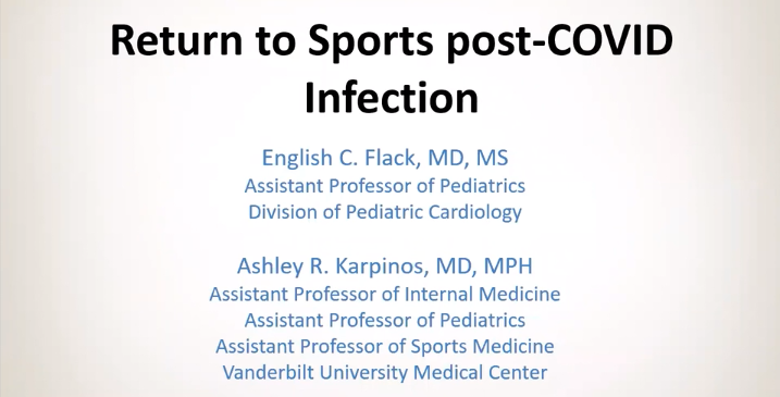 """""""Returning to Sports Post-COVID Infection"""""""